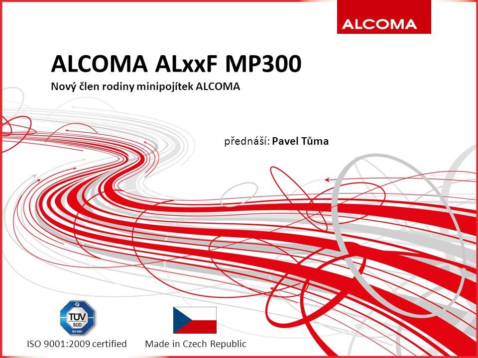 Vychází z modelové řady MP600  Patentovaná technologie synchronizace za pomoci pilotních signálů se vzorky symbolového taktu  Predistorze signálu před zesílením koncovým stupněm umožnuje využívat maximální výkon i při vysoké modulaci  Hitless adaptivní modulace ACM s parametry 100 dB/s ALCOMA ALxxF MP300