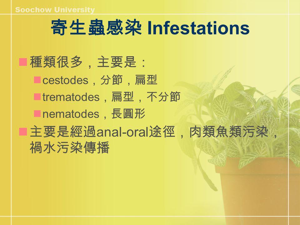 常見寄生蟲 Taenia saginata 絛蟲 http://www.dpd.cdc.gov/dpdx/HTML/ImageLibrary/Taeniasis_il.