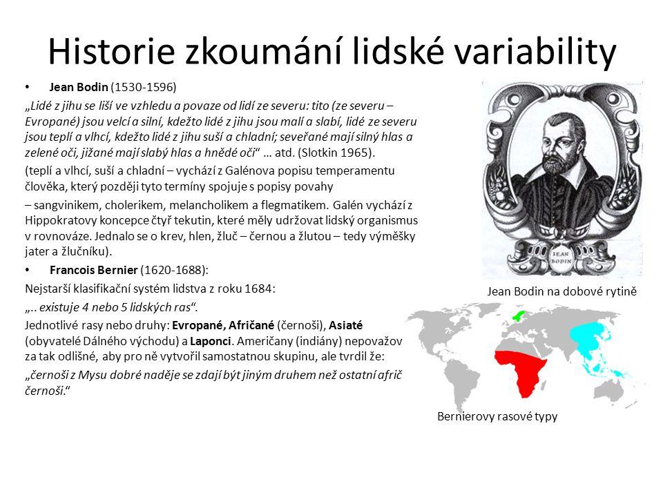 Historie zkoumání lidské variability v 18. století VS.