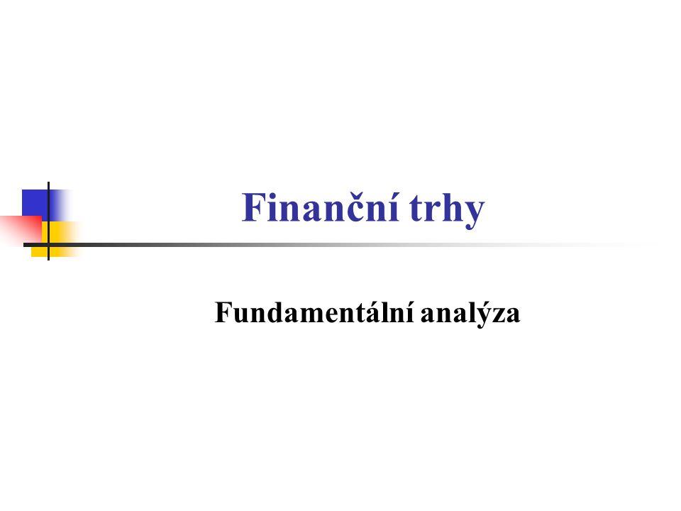Charakteristika fundamentální analýzy (I) FA je nejvíce používanou analýzou akcií.