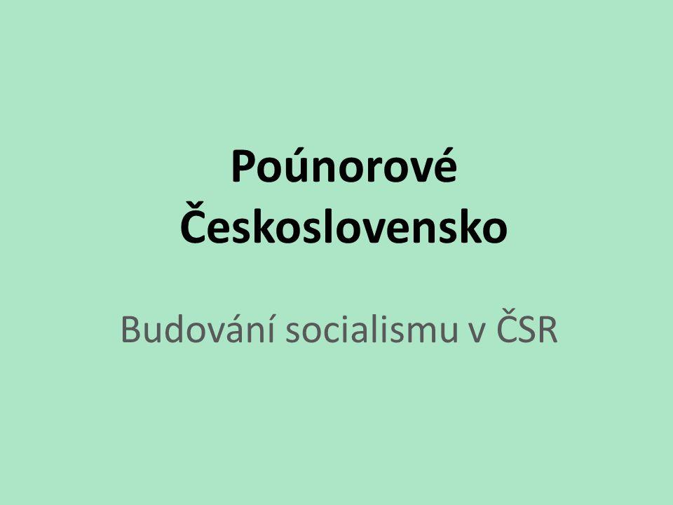 Co se v ČSR mohlo změnit, když se k moci dostali Komunisté?