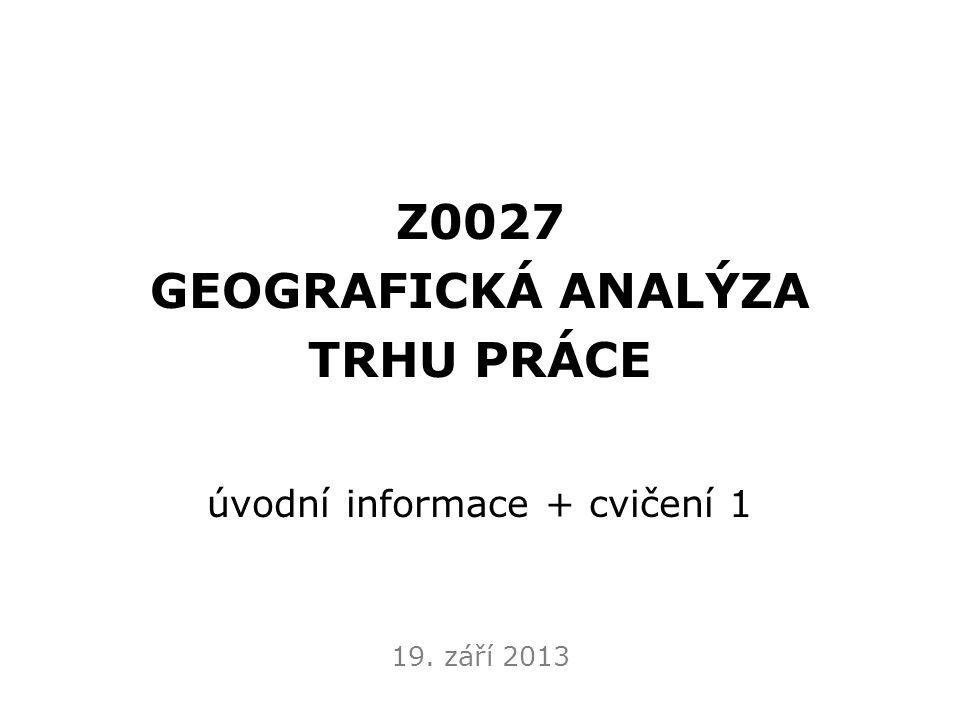 Základní informace  vyučující: doc.RNDr. Václav Toušek, CSc.