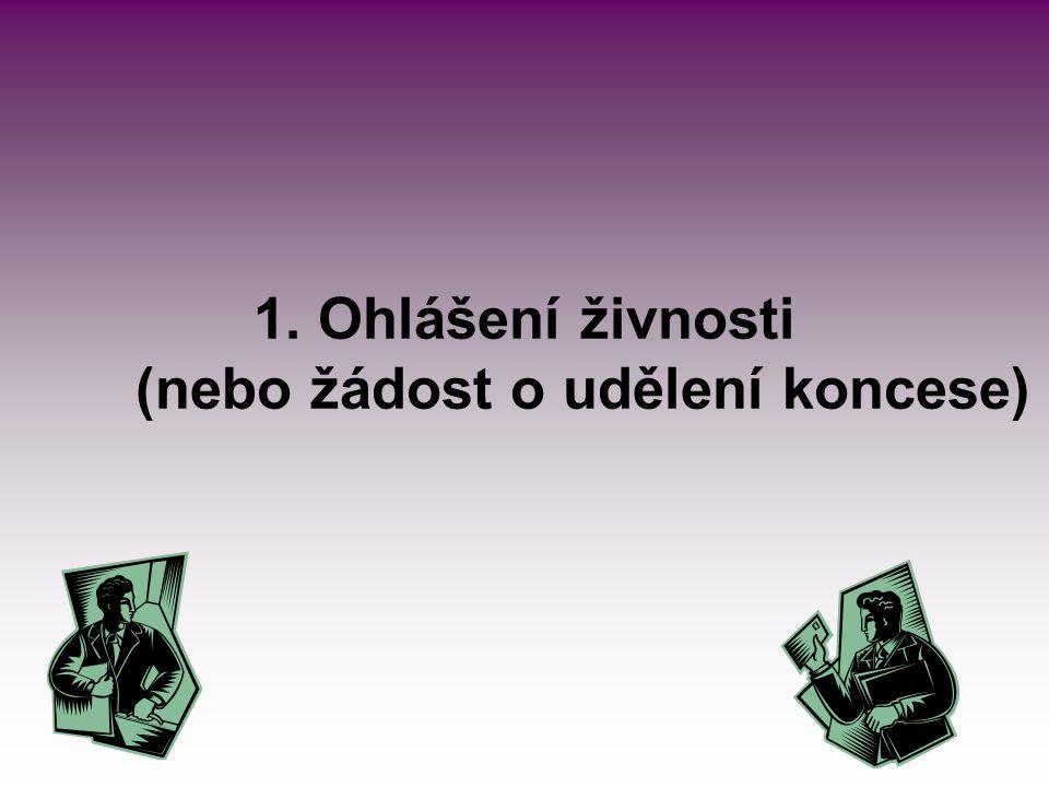 Ohlášení živnosti/podání žádosti se podává: osobně u kteréhokoliv obecního živnostenského úřadu – centrálního registračního místa (CRM) zasláním uvedenému úřadu poštou elektronicky (se zaručeným elektronickým podpisem nebo do datové schránky tohoto úřadu) osobně prostřednictvím kontaktního místa veřejné správy (Czech POINT)