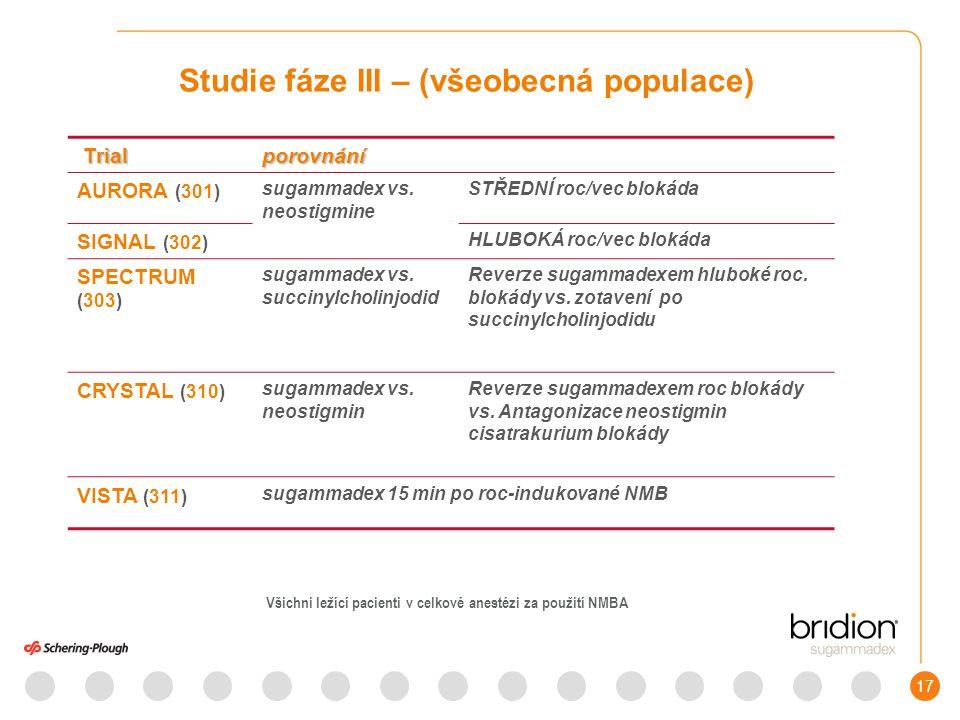 18 Fáze III studií ( spec.