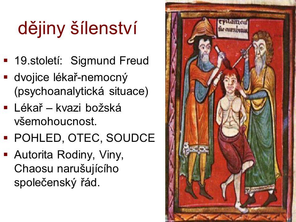 zlo vs.zvíře v nás  středověk: mentální choroby: posedlost, transcendentní příčiny.