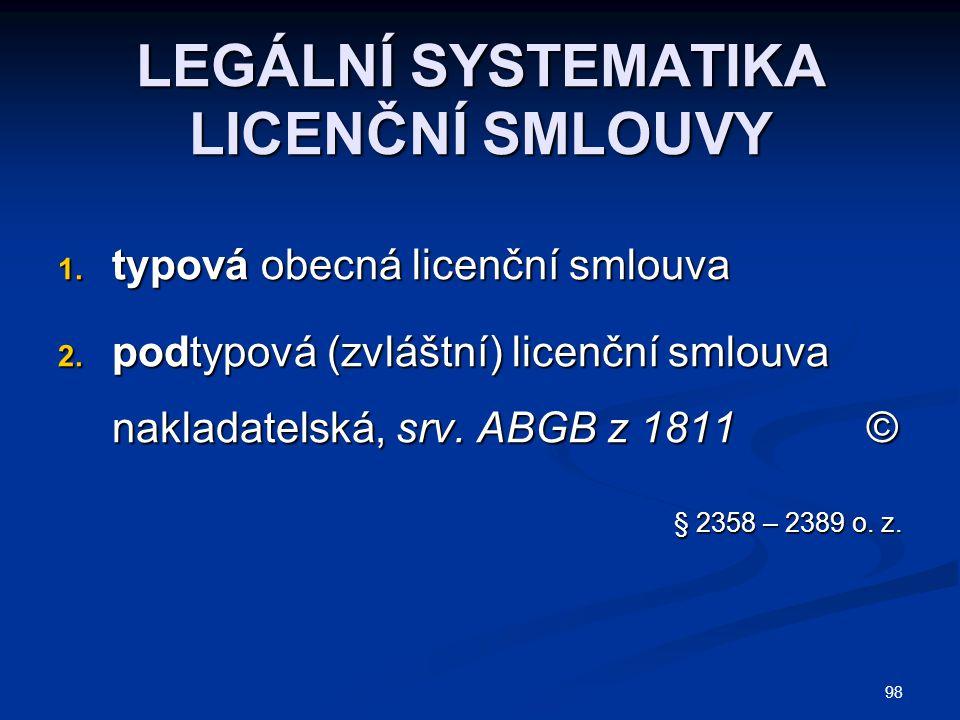  Typová licenční smlouva (o.z.): Typová licenční smlouva (o.