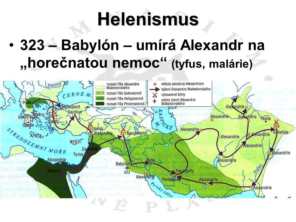 Helenismus Filip III.Arrhidaios (359 – 317 př.n.l.) Alexandr IV.