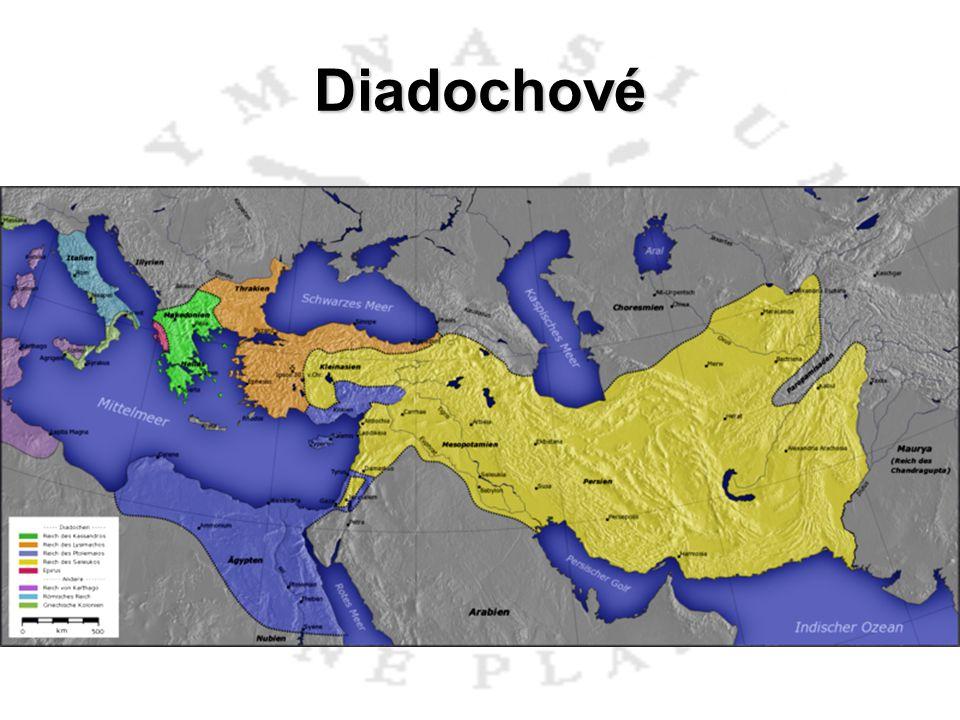 Diadochové Ptolemaios I. Sótér (česky Spasitel; 367 – 283 př.n.l.) 305 př.n.l. přijal titul faraón