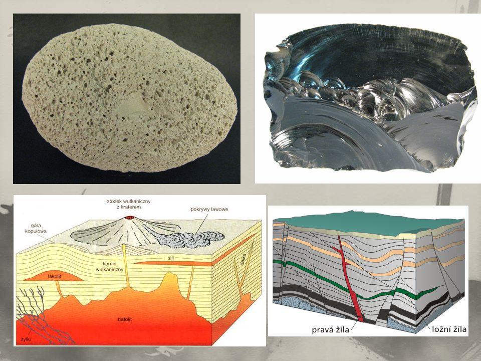 Způsoby vzniku sedimentárních hornin: a)destrukce jiných hornin (úlomkovité […………………..] sedimenty) ……………….→ eroze → …………..