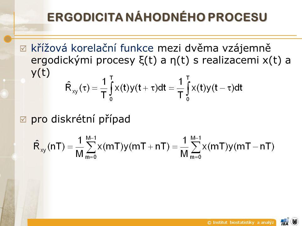 © Institut biostatistiky a analýz zopakujeme (třeba pro diskrétní signál):  konvoluce  výstup lineárního systému y(nT) pomocí konvoluce vstupní posloupnosti x(nT) s impulsní charakteristikou h(nT) SOUHLASNÝ FILTR