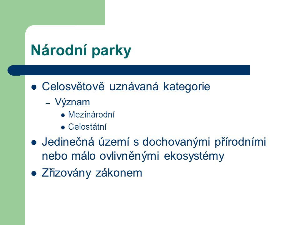 % rozložení chráněných ploch v ČR Národní parky9,00% Chráněné krajinné oblasti83,00% Národní přírodní rezervace2,00% Národní přírodní památky1,00% Přírodní rezervace3,00% Přírodní památky2,00%