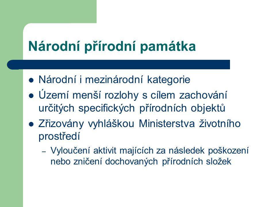 Přírodní rezervace Regionální kategorie Obdobné ochranné podmínky jako u národní přírodní rezervace Obecně závazný předpis příslušného krajského úřadu