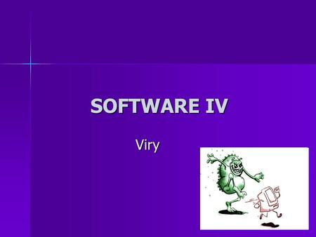 SOFTWARE IV Viry.