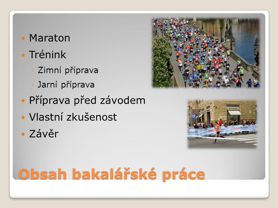 Závěr Každý může uběhnout maraton, pokud se na něj dlouhodobě připravuje.