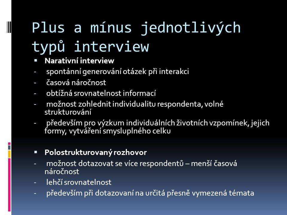 Fáze interview 1.