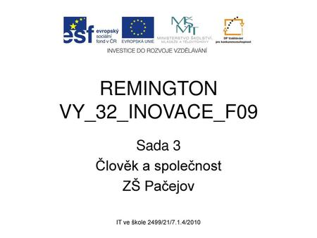 REMINGTON VY_32_INOVACE_F09