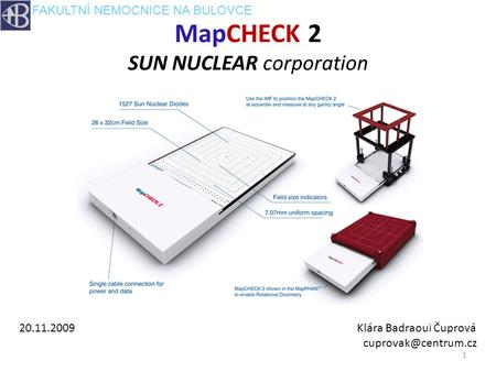 MapCHECK 2 SUN NUCLEAR corporation