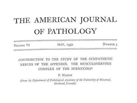 N.J.Carr, H.Remotti, L.H.Sobin Dual carcinoid epithelial neoplasia of the appendix. Histopathology 1995: 27: 557-562.