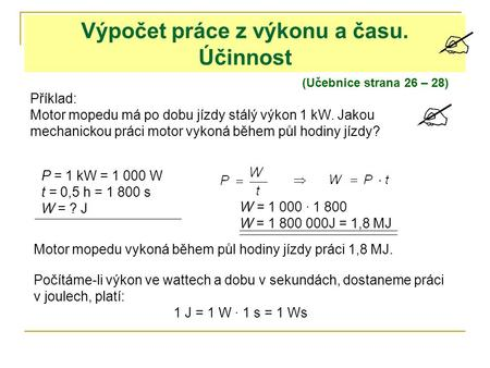 Výpočet proudu z výkonu motoru