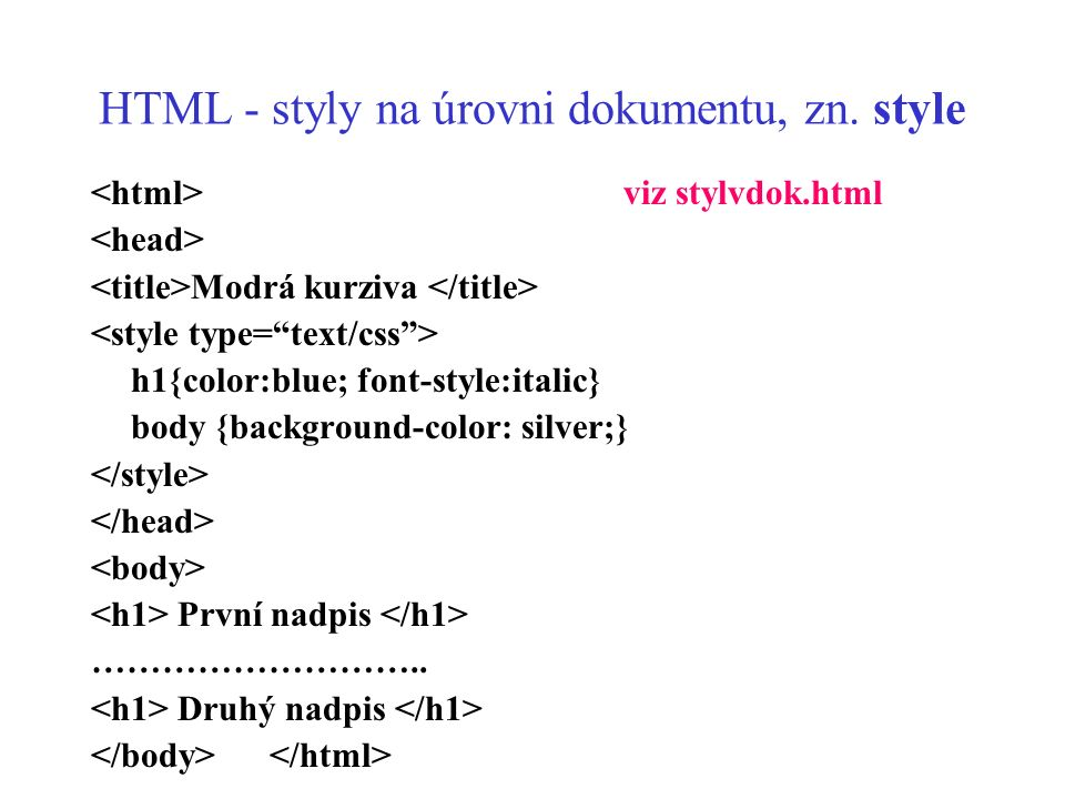 HTML - styly 3.