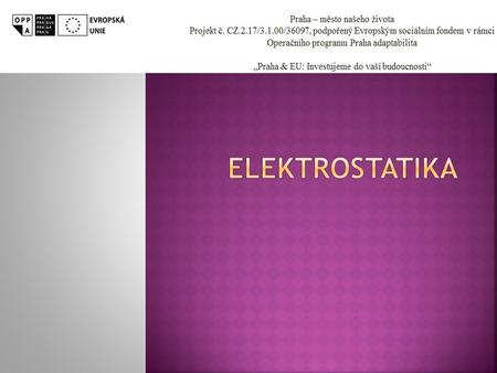 Elektrostatika prezentace