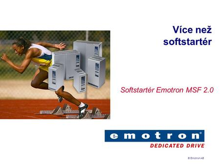 Softstartér Emotron MSF 2.0