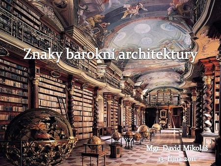Barokní malířství znaky