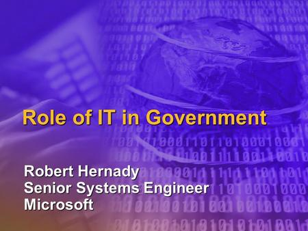 Role of IT in Government