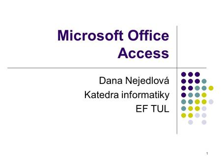 Microsoft Office Access