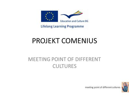 PROJEKT COMENIUS MEETING POINT OF DIFFERENT CULTURES meeting point of different cultures.
