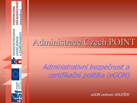 Administrace Czech POINT
