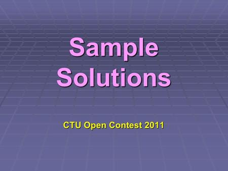 Sample Solutions CTU Open Contest 2011. ANALOG CLOCK.