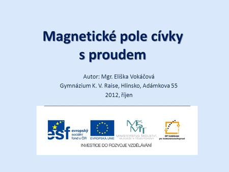 Magnetické pole cívky s proudem