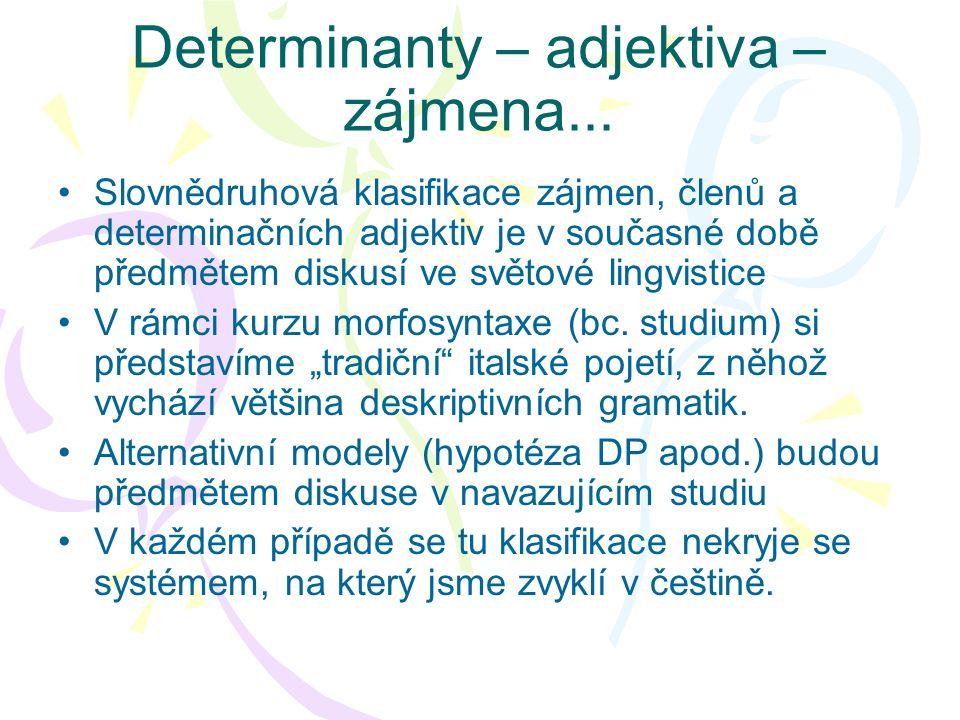 Determinanty – adjektiva – zájmena...