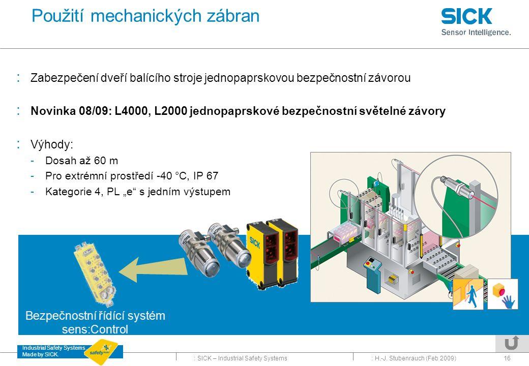 Použití mechanických zábran