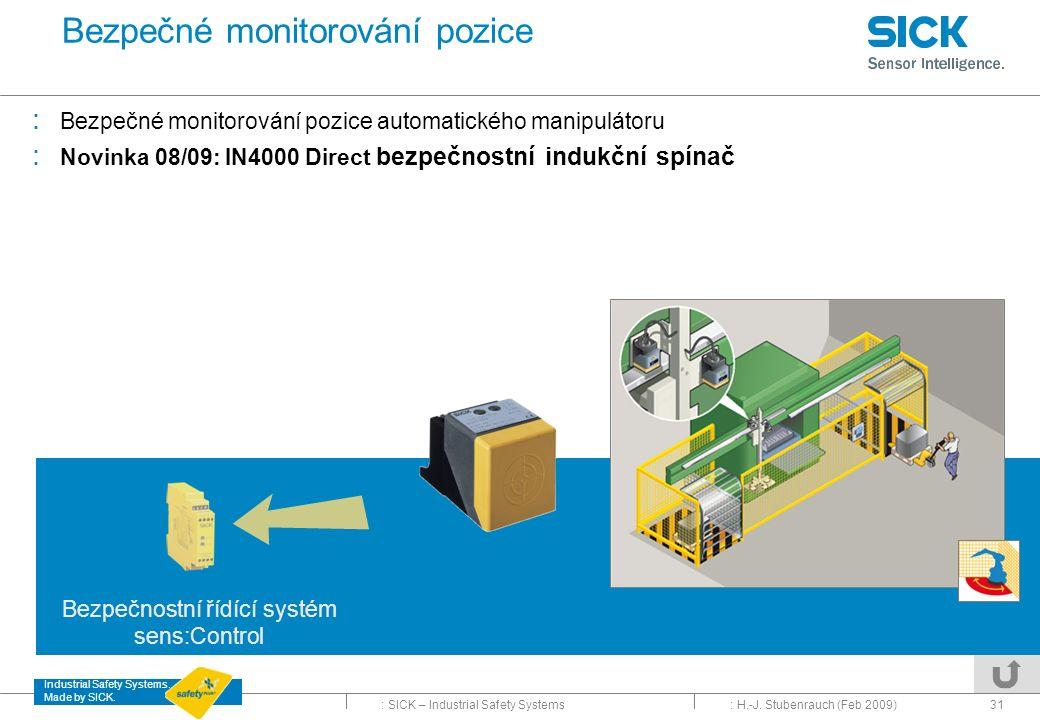 Bezpečné monitorování pozice