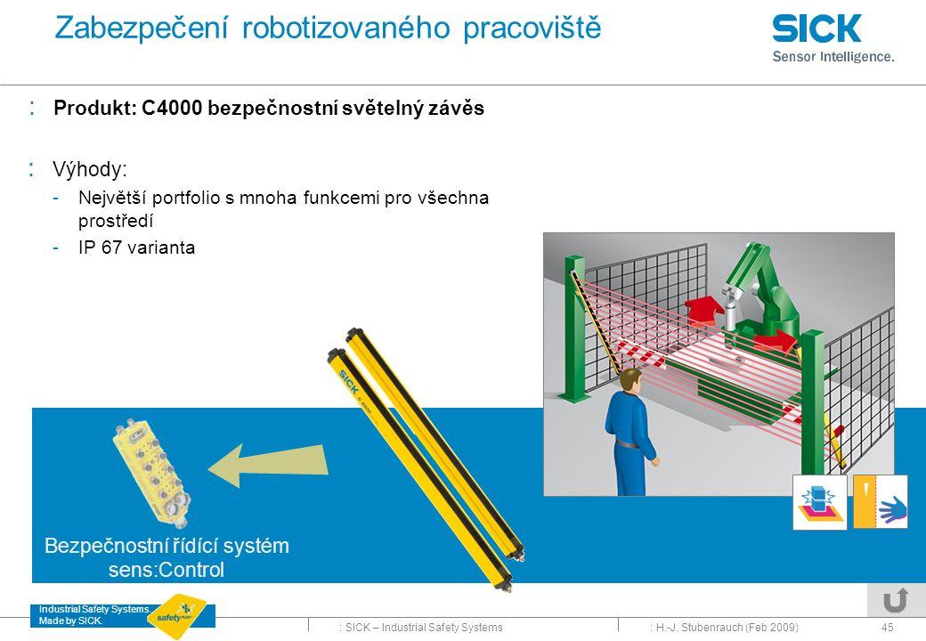 Zabezpečení robotizovaného pracoviště