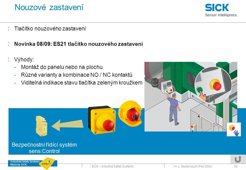 Bezpečnostní řídící systém sens:Control