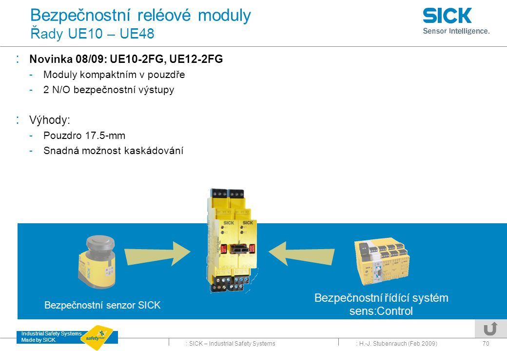 Bezpečnostní reléové moduly Řady UE10 – UE48