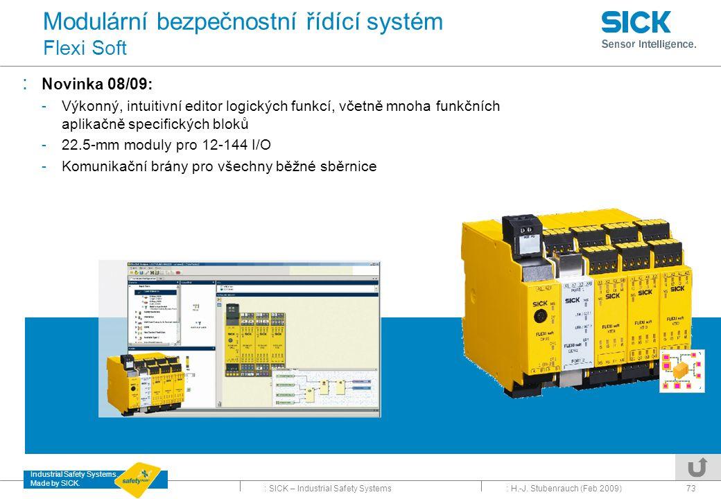 Modulární bezpečnostní řídící systém Flexi Soft