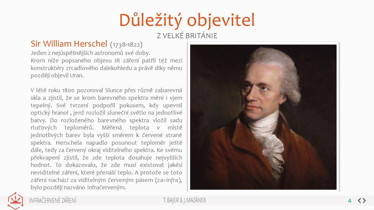Důležitý objevitel Sir William Herschel (1738-1822) Z VELKÉ BRITÁNIE