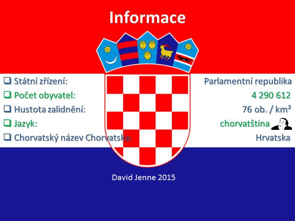 Informace Státní zřízení: Parlamentní republika