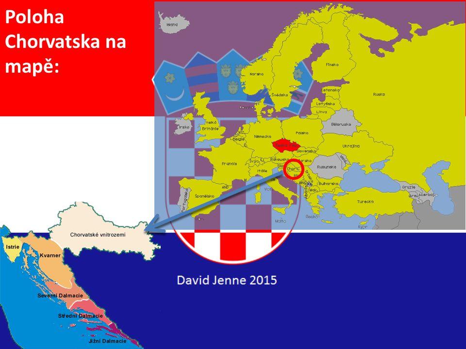 Poloha Chorvatska na mapě: