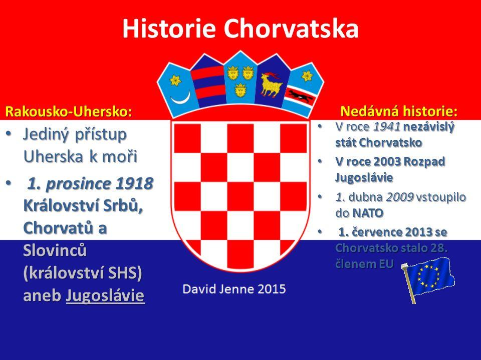 Historie Chorvatska Jediný přístup Uherska k moři