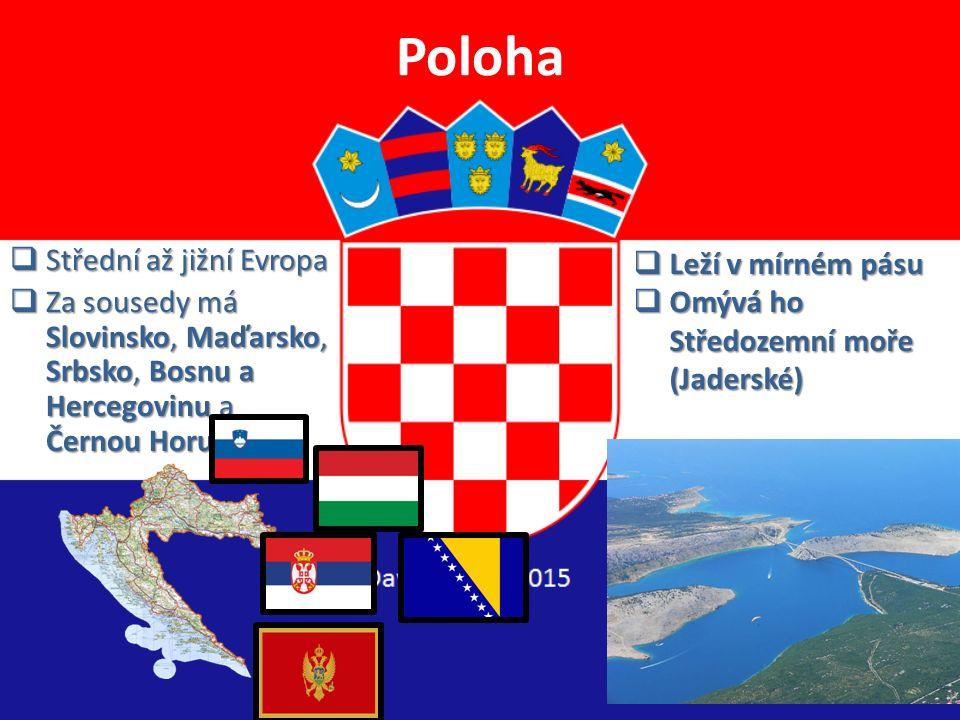Poloha Střední až jižní Evropa