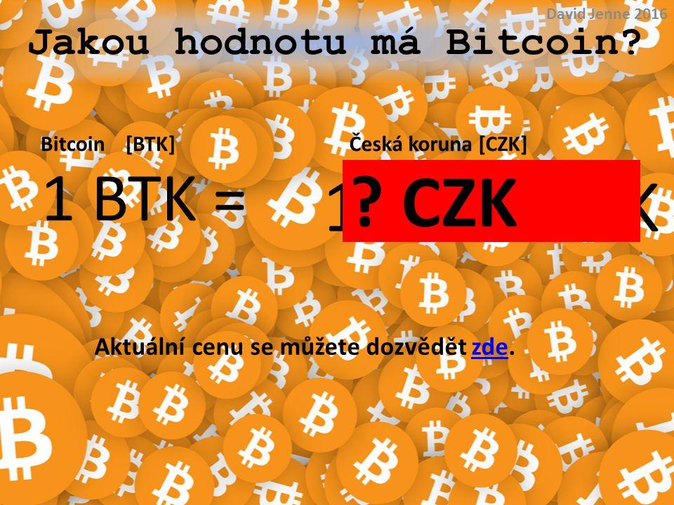 Jakou hodnotu má Bitcoin