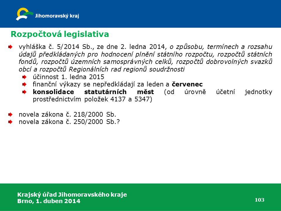 Rozpočtová legislativa