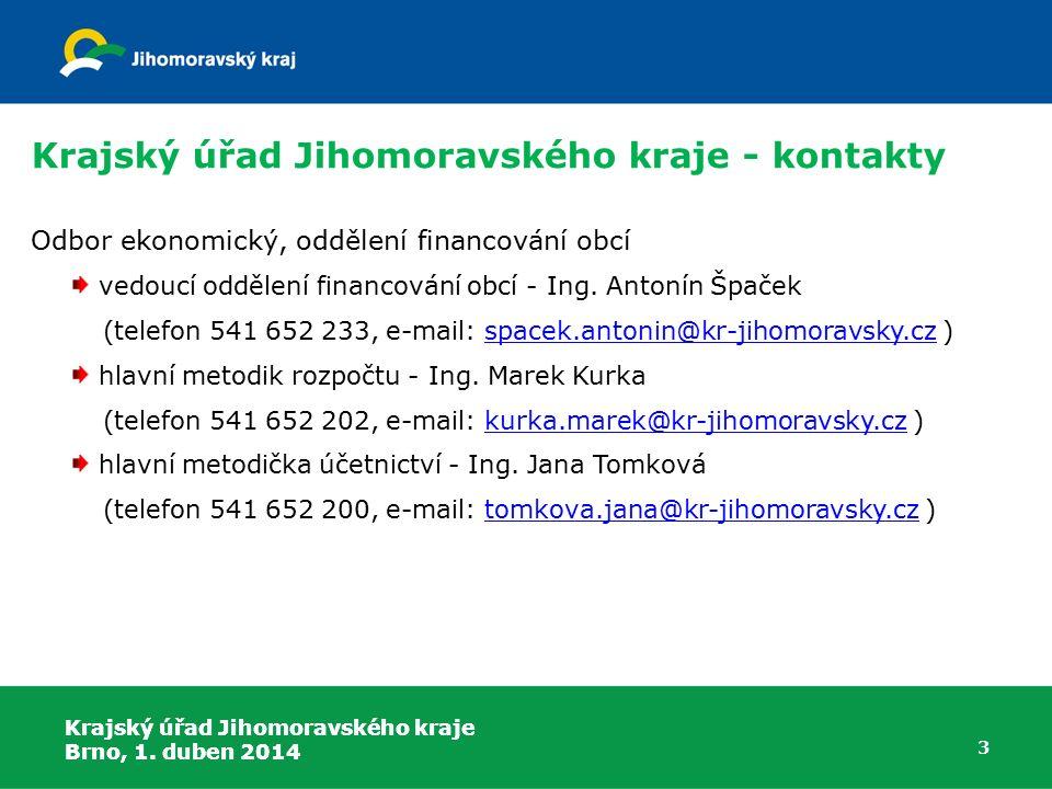 Krajský úřad Jihomoravského kraje - kontakty