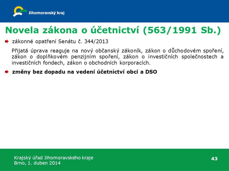 Novela zákona o účetnictví (563/1991 Sb.)
