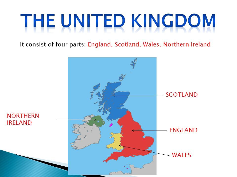 The united kingdom It consist of four parts: England, Scotland, Wales, Northern Ireland. SCOTLAND.